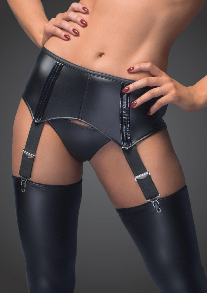 F034 women black sexy garter belt lingerie